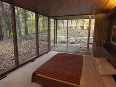 My type of Master, just enough room for a king bed with floor to ceiling glass. Neutra, of course