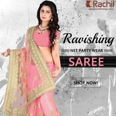 Here is one of the best party wear sarees for the upcoming holi celebration.  #holi #celebration #partywear #womenswear #fashion #sarees