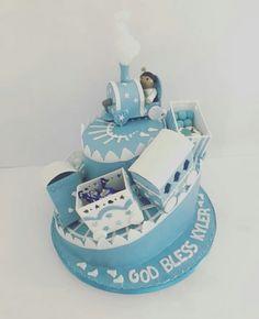 Christening cake train Christening, Decorative Boxes, Train, Cakes, Children, Desserts, Food, Tailgate Desserts, Boys