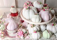 Shimmering Shabby Chic Pumpkins & Gourds DIY Revisited - The Cottage Market