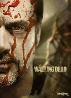 Após o ator Jeffrey Dean Morgan ter sido confirmado como Negan na série de TV de The Walking Dead, um fã fez estas belas artes de como seria seu visual.