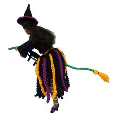 Rebeckah's Treasures: Flying Crochet Barbie Witch ~ Halloween Barbie Costume Pattern