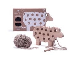 Introducing Woody the Sheep Lacing Toy by Les Jouets Libres. - New at Gretel.