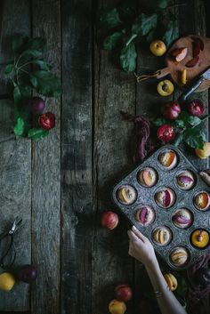 A sweet recipe for beautiful Pluot Financiers and a little update on what has been going on in the life of Eva Kosmas Flores. Dark Food Photography, Almond Recipes, Learn To Cook, Food Art, Food Food, Sweet Recipes, Food Pictures, Food Styling, Food Inspiration