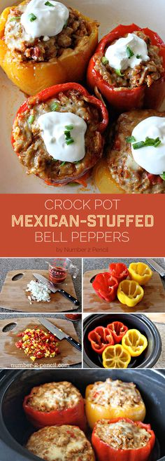 Crock Pot Mexican-Stuffed Bell Peppers