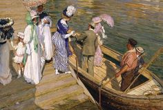 """El Ferry"" (1911) de Emanuel Phillips Fox (1865–1915)"