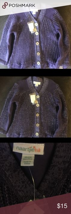 purple sparkly sweater  (18-24mo) NWT purple sparkly sweater  (18-24mo) naartjie kids Shirts & Tops Sweaters