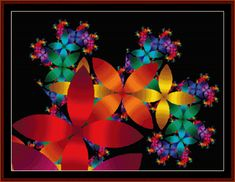 FR-85 - Fractal 085 - All cross stitch patterns - - Abstract - Fractals - Graphic Art - Whimsical - Cross Stitch Collectibles