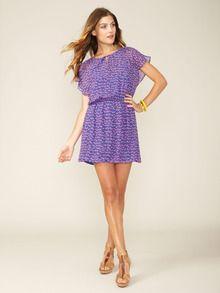 Ikat Leopard Silk Flutter Dress by Alex + Alex - Super cute, right?!