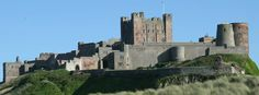 Bamburgh Castle viewed from the beach