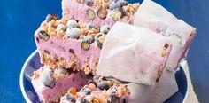 Ledové borůvkové müsli tyčinky