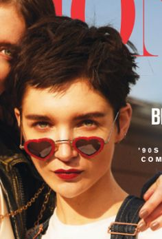 """Mercura NYC covers Fashion Magazine Magazine  2018 COVER STORY """"THE FRIEND ZONE"""" features Mercura red victorian embossed heart sunglasses  Photographer: Max Abadian Stylist: Zeina Esmail Hair: Sabrina Rinaldi Make-up: Genevieve Lenneville  Models: Janice Alida + Meghan Collison"""