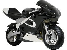 MotoTec Gas Pocket Bike (Black)