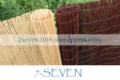 Natural split willow fencing screen.