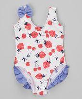 NWT Gymboree Girls Vintage Summer Swimsuits 1 PC,2 PC sz 3 Sunshine,Strawberry
