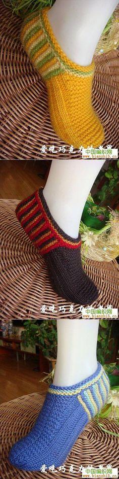Тапочки-следочки МК. | вязание на спицах | Постила