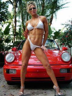 Whoa... Car Girls, Pin Up Girls, Super Sport Cars, Grid Girls, Hot Cars, Hot Wheels, Fit Women, Fitness Models, Fitness Women