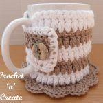 Crochet Mug Cozy Coaster uk