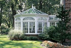This custom glass conservatory design by Tanglewood Conservatories helps bring new life into a classic estate with this beautiful Victorian conservatory in Victorian Conservatory, Glass Conservatory, Conservatory Design, Gazebo, Pergola, Orangerie Extension, Pavillion, Wooden Greenhouses, Dream Homes