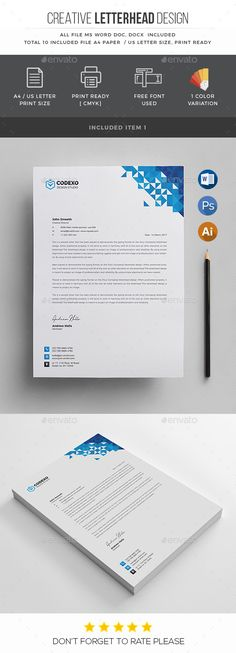 Letterhead Template by generousart Letterhead Examples, Letterhead Business, Letterhead Design, Letterhead Template, Stationery Business, Office Stationery, Stationery Printing, Stationery Templates, Stationery Design