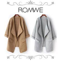 ROMWE コート 【大ブレイク中!! 】ROMWE(ロムウェ) コーディガン 2色