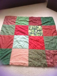 Autumnal quilt that I love so much I can't bear to put it away!