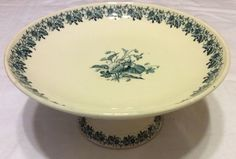 French footed plate by Luneville offered by Ruby Lane shop Luxury French Collection