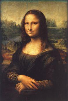 Leonardo da Vinci, Portrait of Mona Lisa (La Gioconda). 1503-1506' Louvre Museum, Paris.