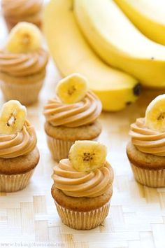 Triple Banana Double Caramel Mini Cupcake | Best Friends For Frosting