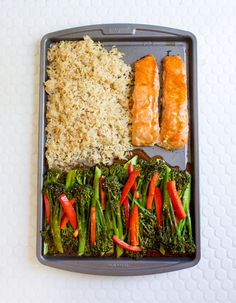 Baked Salmon and Sesame Glazed Broccolini Sheet Pan! Have a delicious, nutritious dinner on the table in 25 minutes! Clean Eating Recipes, Healthy Eating, Cooking Recipes, Healthy Recipes, Easy Recipes, Salmon Recipes, Seafood Recipes, Dinner Recipes, Healthy Lunches For Work