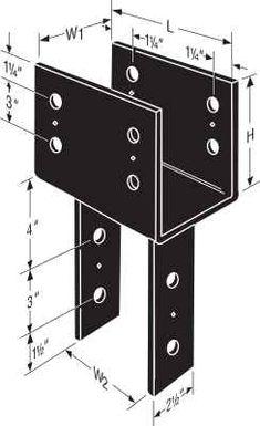 Simpson Ecclr444 End Corner Column Cap Deck Hardware