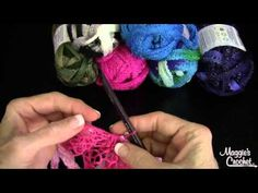 ▶ How to Crochet a Red Heart Boutique Sashay Yarn Ruffled Scarf - YouTube