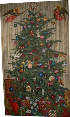 Christy Astuy 1956 Kalifornien USA geb. ungerahmt: c. 240 x 140 cm #ölgemälde #christyastuy #astuypainting #oilpainting #weihnachten1989 #christmas #christmas1989 #christmastree #weihnachtsbaum