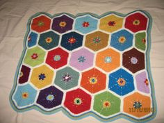 baby blanket #crochet #hexagon #blanket