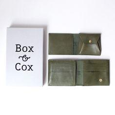 Box & Cox ボックス・アンド・コックス/ Birds - leather wallet : green バーズ レザー ウォレット グリーン - struct / blueover WONDER BAGGAGE 大阪 セレクトショップ