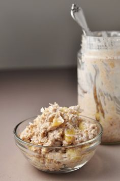 Banana Coconut Overnight Oats | coachs oats blog