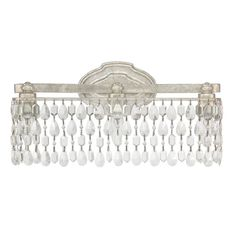 Bathroom Vanity Lighting Crystal kichler lighting krystal ice 3-light chrome rectangle vanity light