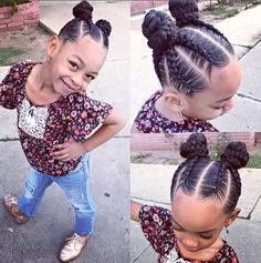 Kids Hairstyles - Great back to school look for grade schoolers. Can be done with natural hair or with extensions. Lil Girl Hairstyles, Black Kids Hairstyles, Natural Hairstyles For Kids, Kids Braided Hairstyles, My Hairstyle, Girl Haircuts, Natural Hair Styles, Short Hair Styles, Teenage Hairstyles