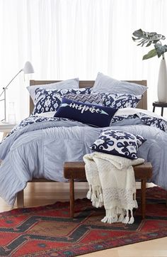 Nordstrom at Home 'Basket Weave' Duvet & Levtex 'Medio' Quilt Bedding Collection available at #Nordstrom
