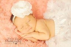 white flower headband baby