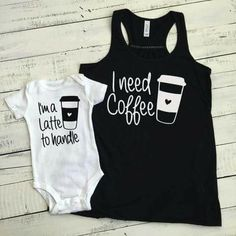 87a1fea04c need Coffee tank and I'm a Latte to handle bodysuit SET - flowy tank mommy  and me, mother daughter son matching outfit infant baby mom coffee lover's  gift ...