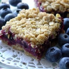 Sweet and delicious Blueberry Oatmeal Squares