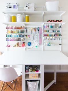 New Home Office and Craft Room Reveal by Sarah Hearts