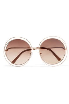 Rose gold-tone metal Come in a designer-stamped hard case 100% UV protection Made in Italy