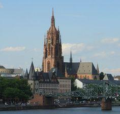 Frankfurter Dom Eiserner Steg, Germany (Frankfurt Cathedral)