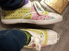 Periodic table shoes. I could pass chemistry easily with these...