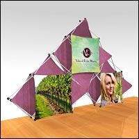 "Fabric FACTORY™ Chorus™ 10 Quad ""3 Square"" Multi-Panel Fabric Popup Display"