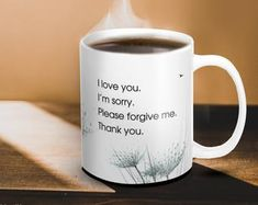 Ceramic Mug with Ho'oponopono Self-Healing Sentences. Mantra meditation quote coffee mug. Typography tea ceramic mug. by inspiring4U Motivational Posters, Quote Posters, Quote Prints, Hope Quotes, Art Quotes, Inspirational Quotes, Typography Poster, Typography Design, Mantra Meditation
