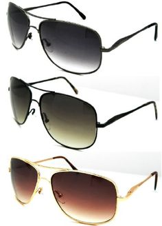 Aviator sunglasses    Set of 3 Nice Aviator Style FlexHinge Temple Gun Metal Gold  Black Frames Wholesale * To view further for this item, visit the image link.