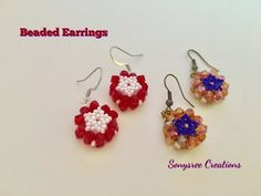 3D Flower Earrings - YouTube
